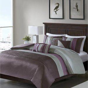 NEW Madison Park 7-Pc. Purple Queen Comforter Set